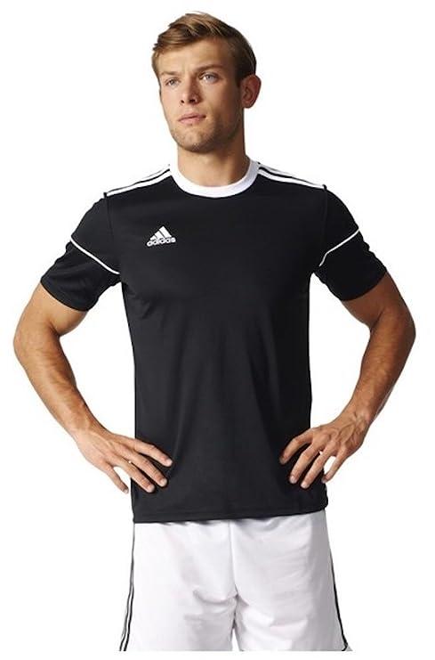 a55627583d7 adidas Men's Squadra 17 Soccer Jersey Training Top Football (S, Black/White)