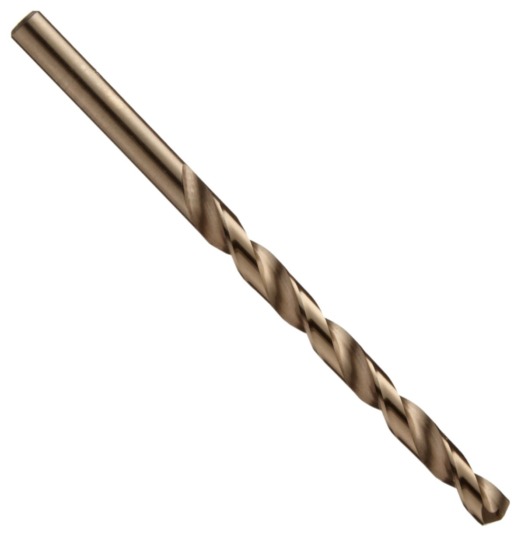 #60 Wire Size Gold Oxide Finish Chicago Latrobe 550 Series Cobalt Steel Jobber Length Drill Bit Set with Metal Case 135 Degree Split Point 60-piece #1