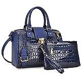 Dasein Women Barrel Handbags Purses Fashion Satchel Bags Top Handle Shoulder Bags Vegan Leather Tote Bags