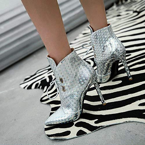 A1268 AnMengXinLing B 9 Silver Argento A 119 Stivali JIXIANGNVXIE 8 Donna A1268 I4XwrYXxq