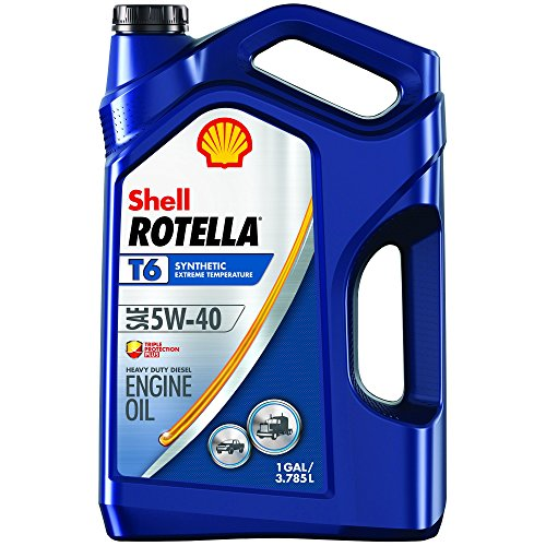 Shell ROTELLA T6 5W-40 Full Synthetic Diesel Engine Oil, 1 Gallon (550045347)