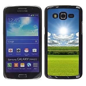 TopCaseStore / la caja del caucho duro de la cubierta de protección de la piel - Peacefull Nature - Samsung Galaxy Grand 2 SM-G7102 SM-G7105