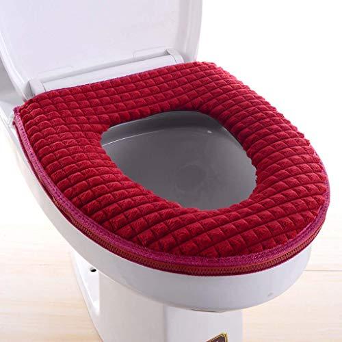 Toiletbril vier seizoenen diamant fluwelen haak- en luswc-bril verdikt zachte toilethoes U-vormige comfortabele…