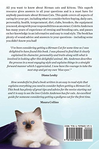 Birman Cats, The Complete Owners Guide to Birman Cats and Kittens Including Buying, Daily Care, Personality, Temperament, Health, Diet, Clubs and Breeders by EKL Publications (Image #2)