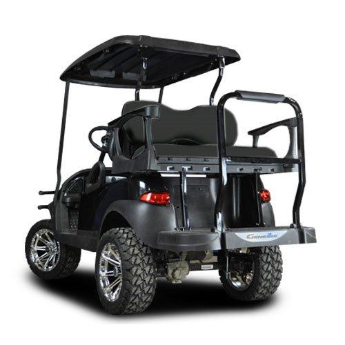 MadJax Genesis 250 Steel Frame Golf Cart Seat Kit w/Deluxe Black Cushion Set for Club Car Precedent