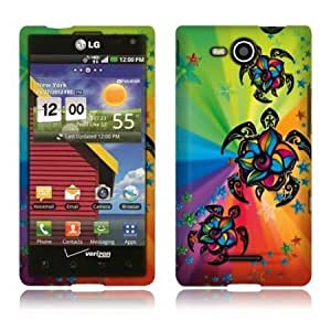 LG Lucid 4G VS840 Colorful Turtle Rubberized Cover