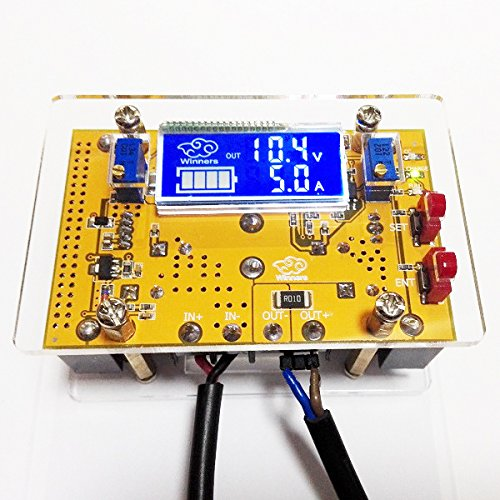 10A DC-DC LCD Adjustable Step Down Power Supply Voltage Current Display Module With Housing - Arduino Compatible SCM & DIY Kits
