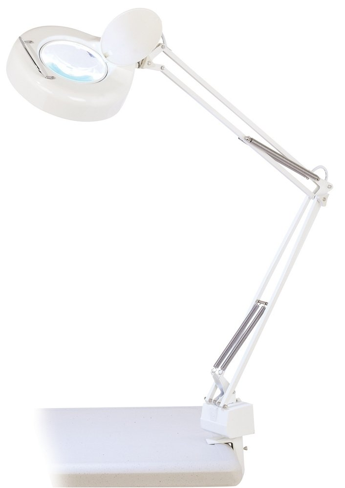Magnifying Clamp-On Desk Lamp