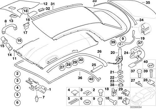 BMW Genuine Hardtop Push Button E46 3 Series Cabrio Convertible 54218228947