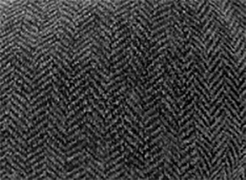 Heritage Traditions Dark Grey Herringbone Peaky Blinder Tweed cap Hat
