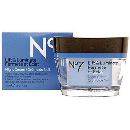 (Boots No7 Lift and Luminate Night Cream, 1.6 Fl. Oz. )