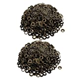uxcell 1000pcs 6.5mm Brass Eyelet Grommets Bronze Tone for Clothes Leather Canvas
