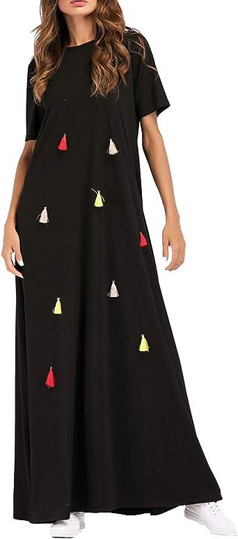 Vestido Largo Arabe Mujer Musulmanas - Abaya Dubai Tunica ...