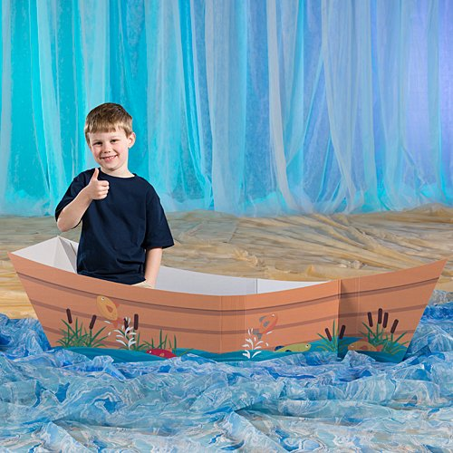 Gone Fishin' Boat Prop by Shindigz Standup Photo Booth Prop Background Backdrop Party Decoration Decor Scene Setter Cardboard -
