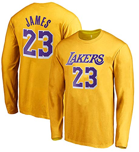 100 Nba Jersey Numbers - Outerstuff NBA Youth Game Time Team Color Player Name and Number Long Sleeve Jersey T-Shirt (X-Large 18/20, Lebron James Los Angeles Lakers)