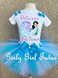 Jasmine Princess Girls Personalized Birthday Outfit Tutu Set