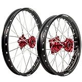 HONDA CRF150R 2007–2017 Tusk IMPACT Complete Front/Rear Wheel Kit 19'' / 16'' Black Rim/Silver Spoke/Red Hub