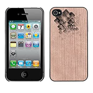 - / Abstract Polygon Pattern Gem Shiny - - Funda Delgada Cubierta Case Cover de Madera / FOR Apple iPhone 4 4S 4G / Jordan Colourful Shop/
