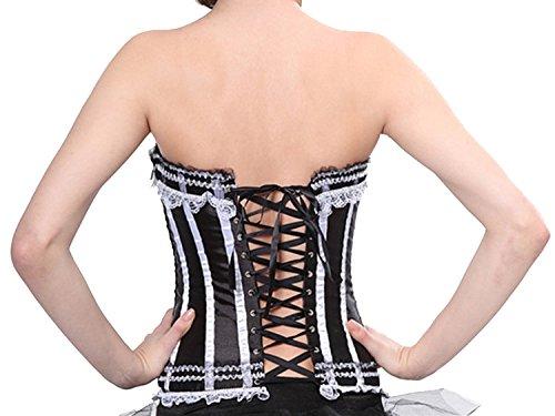 bustino Showgirl con da White donna Plus Black Top con overbust Size Topper Halloween strascico da Bustier donna Top per R6dBx04