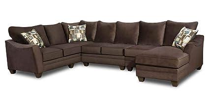 Amazon.com: Chelsea Home 4-Pc Flannel Espresso Left Side ...