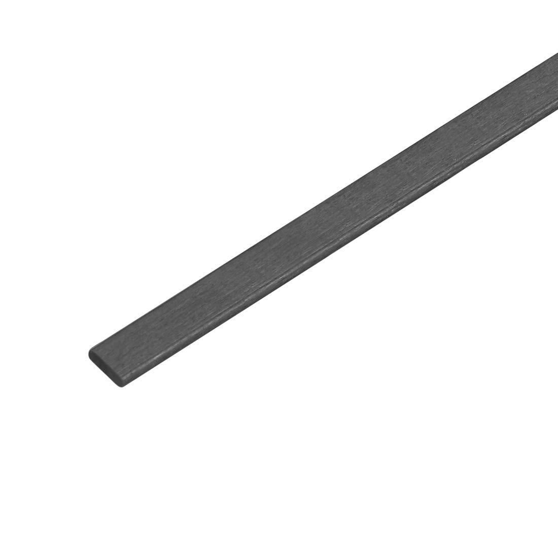 Carbon Fiber Strip 1mm Thickness x 3mm Width x 600mm Pultruded Bar 5 Pcs