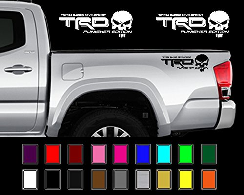 Price comparison product image Edwin Group of Companies TRD PUNISHER EDITION Decals Toyota Tacoma Tundra Truck Vinyl Stickers X2