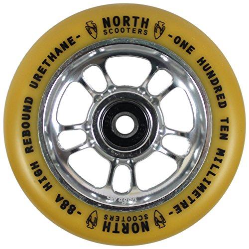 北スクーターWagon Gum 88 Aスクーターホイールシルバー110 mmシングルホイール