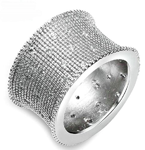 Gnzoe Jewelry, Silver Plated Womens Wedding Ring Handmade Zircon Fashion Band Comfort Notting Hill