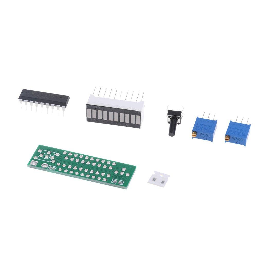 Green 5cm gazechimp LM3914 10 Segment 5V 12V Battery Capacity Power LED Indicator Display Kits