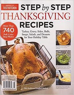 Americau0027s Test Kitchen Magazine Step By Step Thanksgiving Recipes 2016:  0074808027453: Amazon.com: Books