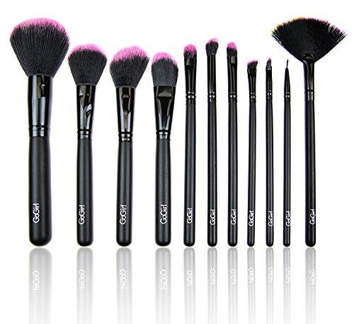 GoGirl Beauty 11 Piece Makeup Brushes Premium Makeup Brush Set Synthetic Premium Cosmetics Foundation Blending Blush Eyeliner Face Powder Brush Makeup Brush Kit - (Face Powder Kit)