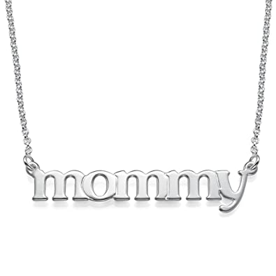 Amazon mommy name necklace in lowercase font sterling silver amazon mommy name necklace in lowercase font sterling silver special gift for mother jewelry aloadofball Choice Image