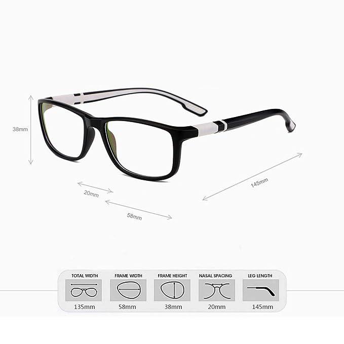 27fab4aa34f Amazon.com  Men Women Sport Eyeglass Frames Myopia Optical Eyewear Frame Rx  Glasses Frame New (Black)  Clothing