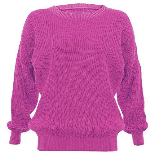 New funda de punto para traje de neopreno para mujer Plain ovillo de para mujer pantalones de jersey de punto de manga larga de tamaño maxi Cerise