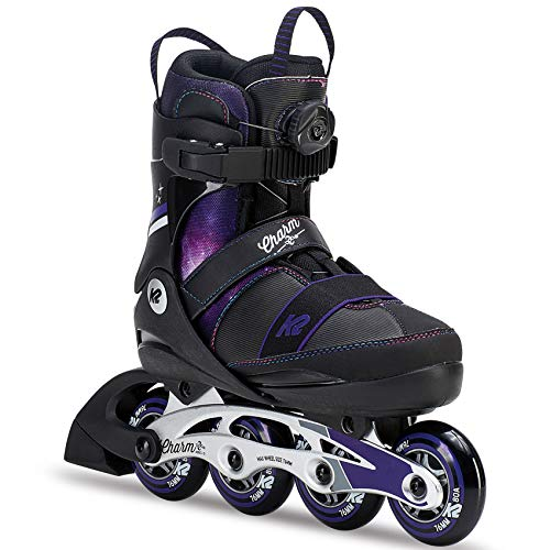 K2 Skate Charm Boa Alu Inline Skates, Black Purple, for sale  Delivered anywhere in USA