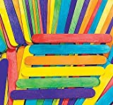 100 Rainbow Kids Craft Wooden Stick