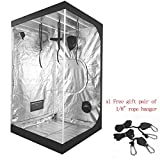 Ipomelo Hydroponic Mylar Reflective 600d Grow Tent 48″x48″x80″ With Strong Steel Framework