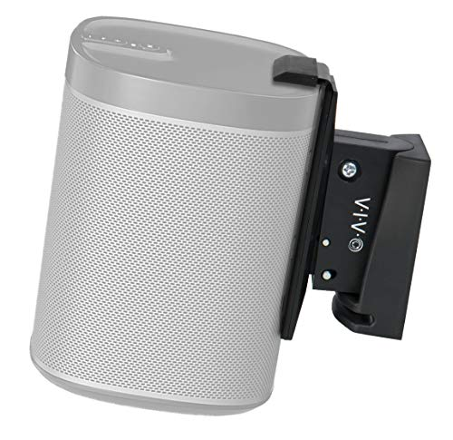 VIVO Black Single Speaker Wall Mount Designed for SONOS Play 1 Bracket | Adjustable Mounting for 1 Play:1 Audio Speaker (MOUNT-PLAY1B-1)