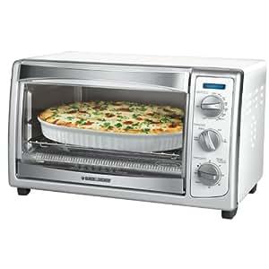 Black & Decker - Slice Toaster Oven, White