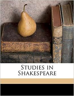 Book Studies in Shakespeare