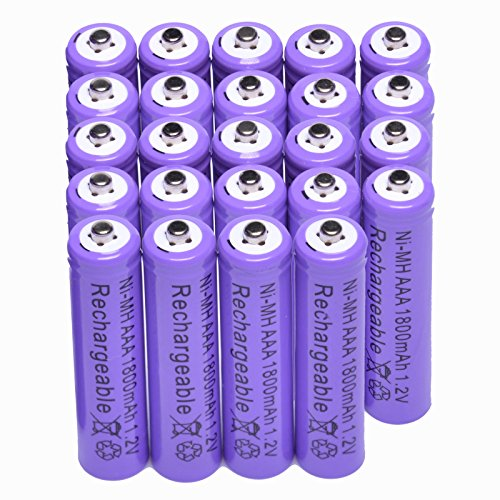 Purple 1800mah rechargeable times up to 1000 times rechargeable for mp3 rc toys camera battery 24x aaa 1.2 v ni-mh