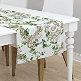 Table Runner - Vine Antique Ornate Baroque Ivy Italian by Peacoquettedesigns - Cotton Sateen Table Runner 16 x 90