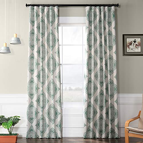 HPD Half Price Drapes BOCH-KC27D-108 Blackout Room Darkening Curtain (1 Panel), 50 X 108, Henna Clover