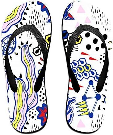 ビーチシューズ 抽象的な幾何柄 ビーチサンダル 島ぞうり 夏 サンダル ベランダ 痛くない 滑り止め カジュアル シンプル おしゃれ 柔らかい 軽量 人気 室内履き アウトドア 海 プール リゾート ユニセックス