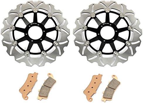 TARAZON フロント ブレーキ ディスクローター ブレーキローター ブレーキパッド ステンレス鋼 品質抜群 完璧交換 対応車種 Honda GL 1800 GOLD WING 01-17 VFR 800 Fi Interceptor