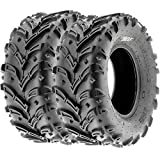 SunF ATV UTV Mud & All Terrain Tires 25x10-12 25x10x12 6 PR A024-1 (Set pair of 2)