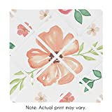 Sweet JoJo Designs Peach and Green Fabric Memory Memo Photo Bulletin Board for Watercolor Floral Collection - Pink Rose Flower