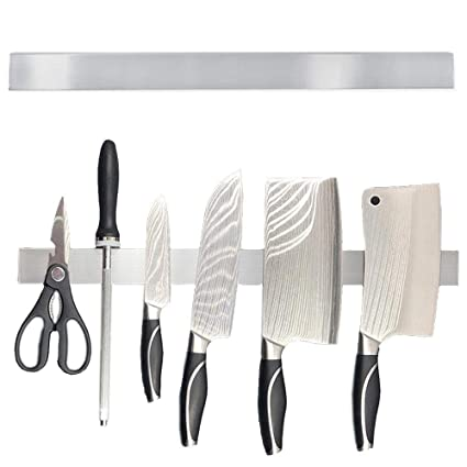 Amazon.com: MOGOI Stainless Steel Magnetic Knife Bar with ...