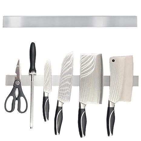Womdee Soporte magnético para Cuchillos, Barra magnética de Acero Inoxidable para Cuchillos de fácil instalación, Soporte para Pared, Cocina, hogar, ...