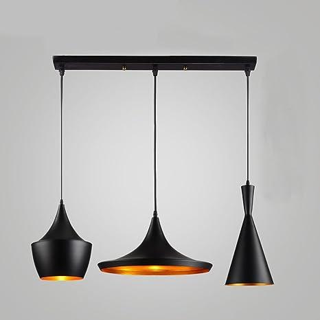 zmh Vintage LED Lámpara colgante Comedor Lámpara de techo ...